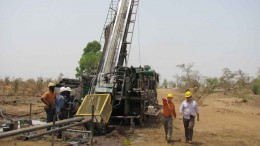 Drillers at Volta Resources' Kiaka gold project, 140 km southeast of Ouagadougou, Burkina Faso. Source: Volta Resources