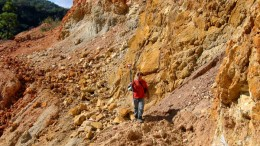 An employee walks through Chesapeake's Metates project in Mexico. Source: Chesapeake Gold