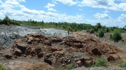 One of the Proximal deposits at Wolfden Resources' Clarence Stream gold project, 70 km southwest of Fredericton, New Brunswick. Source: Wolfden Resources