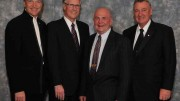 This year's inductees to the Canadian Mining Hall of Fame, from left: Pierre Lassonde, Gerald Grandey, Chuck Fipke and James O'Rourke. Source: Canadian Mining Hall of Fame