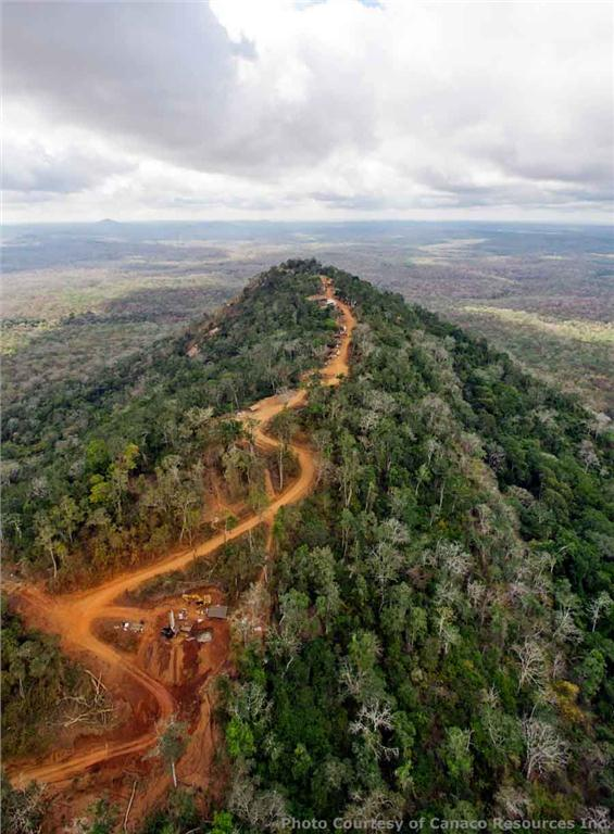 An aerial view of Canaco Resources' Handeni gold project in northeastern Tanzania. Source: Canaco Resources
