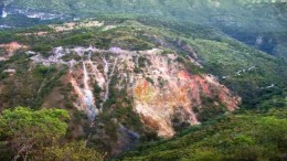 An outcrop at Chesapeake Gold's Metates gold-silver project in Mexico. Source: Chesapeake Gold
