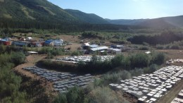 The camp at Northern Freegold's Freegold Mountain copper-gold project in the Yukon. Photo by Matthew Keevil