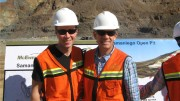 McEwen Mining senior vice-president Ian Ball (left) and CEO Rob McEwen at the El Gallo silver-gold project in Mexico's Sinaloa state. Photo by Trish Saywell