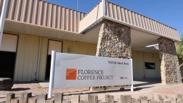 The office at Curis Resources' Florence copper project in Arizona. Source: Curis Resources