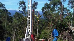 A drill rig at Inmet Mining's Cobre Panama copper project in Panama. Source: Inmet Mining