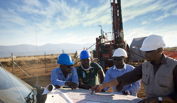 Ivanplats staff strategize their next move at the Platreef project in South Africa. Source: Ivanplats