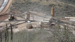 Crushing equipment at SilverCrest Mines' Santa Elena silver-gold mine in Mexico. Source: SilverCrest Mines