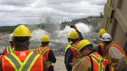 Wesdome employees supervise the development of the Mishi open-pit mine in Ontario. Source: Wesdome Gold Mines