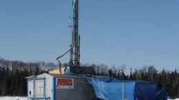 A drill rig at Gold Canyon Resources' Springpole gold project in northwestern Ontario. Source: Gold Canyon Resources