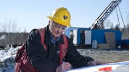 San Gold exploration manager Bill Ferreira  at the Rice Lake gold mining complex in Bissett, Manitoba. Source: San Gold