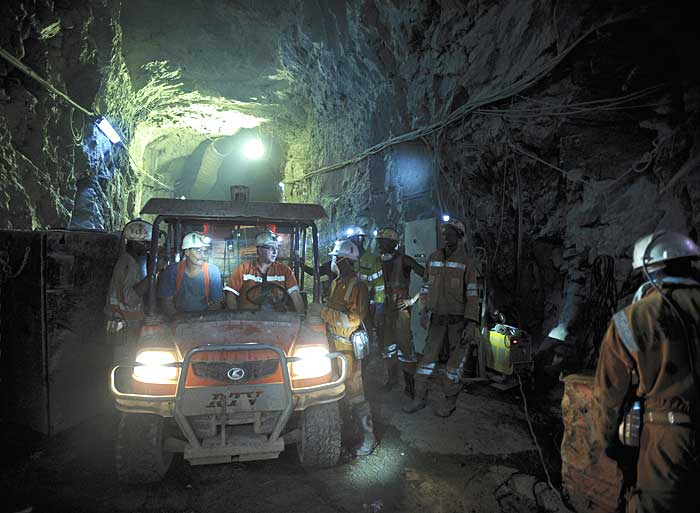 Inside Randgold's Loulo mine located in the west of Mali. Source: Randgold Resources