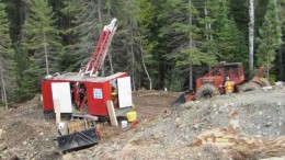 Drillers at Transition Metals' Haultain gold property, 125 km south of Timmins, Ontario. Source: Transition Metals