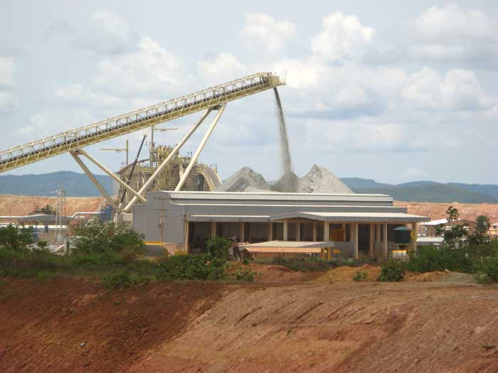 Processing facilities at Yamana's Chapada open pit gold-copper mine, located in Brazil. Credit: Yamana Gold.