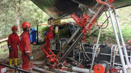 Drillers at Red Eagle Mining's Santa Rosa gold project in Colombia. Source: Red Eagle Mining