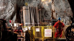 An underground exploration drill at NAP's Lac-des-Iles project. Source: North American Palladium