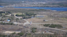 Looking down at Premier Gold Mines' Trans-Canada gold project in northwestern Ontario's Beardmore-Geraldton greenstone belt. Source: Premier Gold Mines