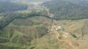 An aerial shot of Touchstone's camp at the Segovia gold project in north-western Colombia.