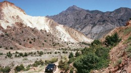 Mediterranean Resources' Red Mountain project in Turkey. Photo by John Cumming.