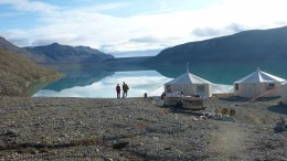 The camp at Avannaa Resources' Washington Land lead-zinc project in northern Greenland. Source: Avannaa Resources