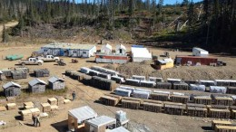 The exploration camp at Gold Reach Resources' Ootsa gold project in northwest British Columbia. Source: Gold Reach Resources