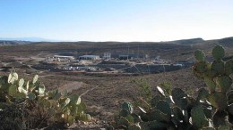 The surface at Aurcana's Shafter silver mine in Presidio County, Texas, 375 km southeast of El Paso. Source: Aurcana