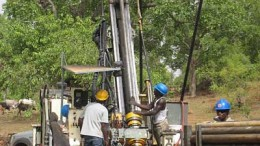 Drillers at work at Sarama Resources' South Hound gold project in Burkina Faso. Source: Sarama Resources
