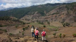 Geologists survey the Escanelosa Zone of the Las Tres Palmas project in the Dominican Republic (2012). Source: Goldquest Mining