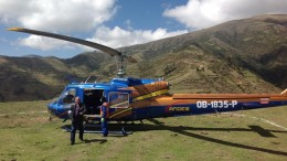 Landing at Panoro Minerals' Cotabambas copper project in Peru in late 2012. Photo by Matthew Keevil.
