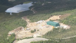 The mill at Bellekeno under construction in 2010 (now complete). Photo by Mike Burke.