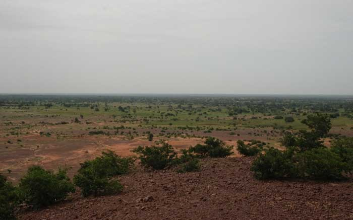 The view from a hill looking towards True Gold Mining's Goulagou II deposit at the Karma gold project in Burkina Faso. True Gold Mining