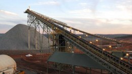 A conveyor belt at Newmont's Boddington gold mine in Australia (2009). Source: Newmont Mining