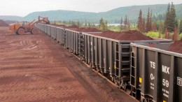 Rail cars are loaded at New Millennium's DSO project in Quebec. Source: New Millennium Iron