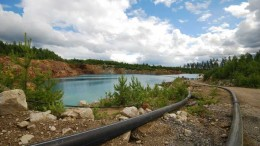 Dewatering the pit at the Kringel deposit, part of Flinders Resources' Woxna graphite project in Sweden. Source: Flinders Resources