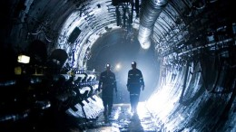 Miners walk along underground tunnels at the Cigar Lake project in Saskatchewan. Source: Cameco