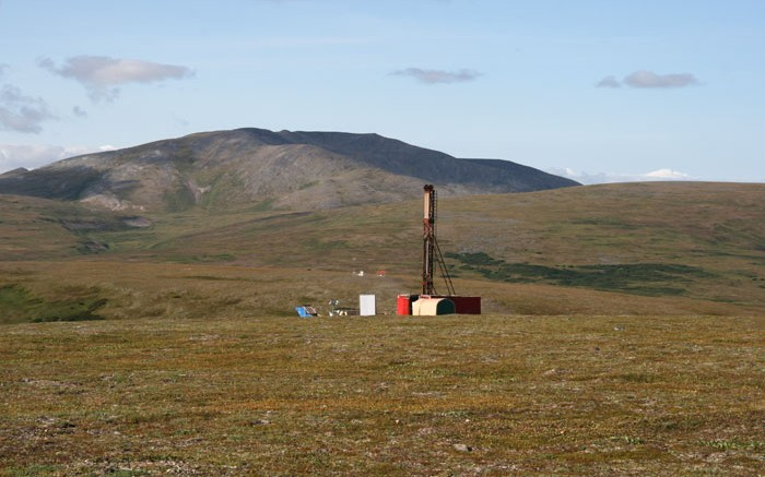 A drill rig at the Pebble copper-gold project in Alaska. Source: Northern Dynasty Minerals