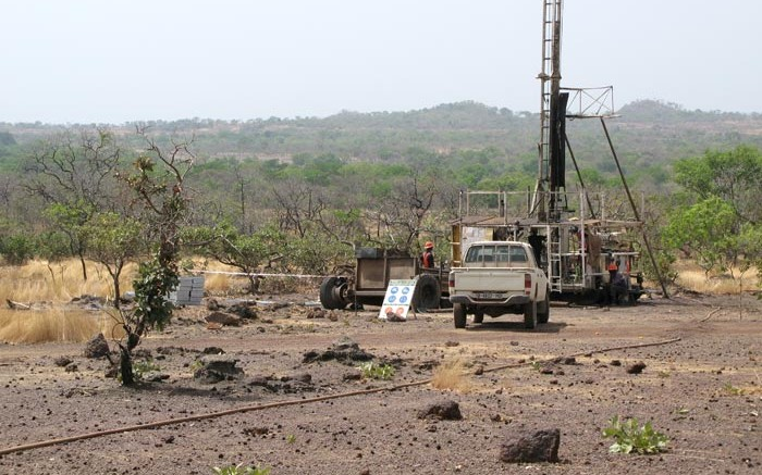 Drilling in search of uranium near Falea in western Mali, about 20 km north of the country's border with Guinea (2008). Source: Rockgate Capital