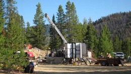 The drill site at Midas Gold's Yellow Pine deposit. Credit: Midas Gold.