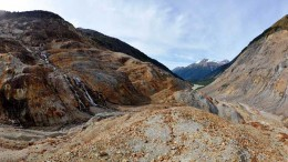 The surface of the Mitchell deposit at Seabridge Gold's KSM gold-copper project, 65 km northwest of Stewart, B.C. Source: Seabridge Gold