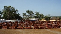 Core boxes stacked at Rockgate Capital's Falea uranium project in southern Mali. Source: Rockgate Capital