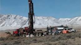 Drilling at International Minerals'  Converse gold project in Nevada. Source: International Minerals