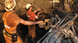 Workers tend to equipment at the Fosterville gold mine in Australia. Source: Crocodile Gold