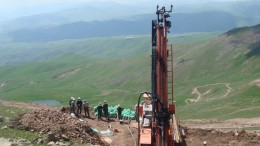 A drill rig at Lydian's  Amulsar gold mine in Armenia. Source: Lydian International
