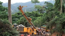 Drillers at Asanko Gold's Esaase gold project in Ghana in 2011. Credit: Asanko Gold
