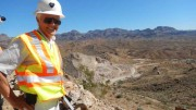 Northern Vertex Mining CEO Dick Whittington at the Moss gold-silver mine in northwestern Arizona. Credit: Northern Vertex Mining