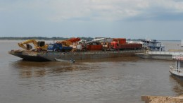 A barge with equipment for Pacific Potash's Amazonas potash project in Brazil. Credit:  Pacific Potash