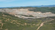 Capstone Mining's Minto copper-gold-silver mine in the central Yukon. Tailings are being deposited in the main pit and mining has moved to the Area 2 pit and the new underground operation. Photo by Gwen Preston.