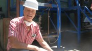 Dynacor Gold Mines CEO Jean Martineau at the Huanca gold mill in Peru, 450 km south of Lima. Photo by Trish Saywell.