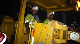Underground workers at Tahoe Resources' Escobal silver mine in Guatemala. Credit: Tahoe Resources