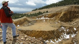 View of the southwest access pit at Pilot Gold's Kinsley project in Nevada. Credit: Pilot Gold